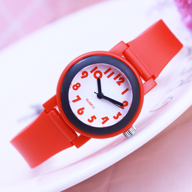 2018 children simple fashion mini quartz watches students kids Contrast color stripe soft waterproof sports Clear wristwatches2018 children simple fashion mini quartz watches students kids Contrast color stripe soft waterproof sports Clear wristwatches