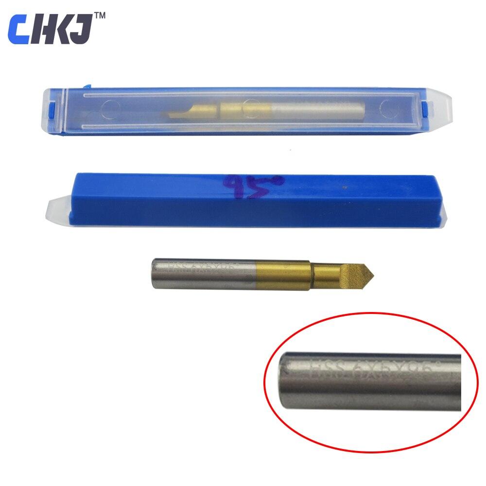 CHKJ 95 Degree Titanium Coated HSS Key Cutter For Key Milling Machine Guide Pin Flat Knife Drill Bit Locksmith Tool Accessories