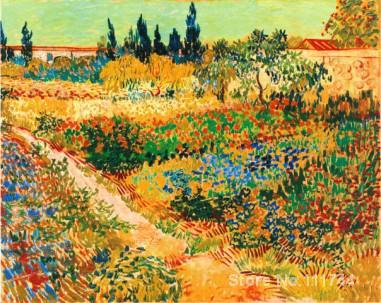 Landscape art painting on canvas BLUHENDER GARTEN MIT PFAD hand painted Vincent Van Gogh artwork High qualityLandscape art painting on canvas BLUHENDER GARTEN MIT PFAD hand painted Vincent Van Gogh artwork High quality