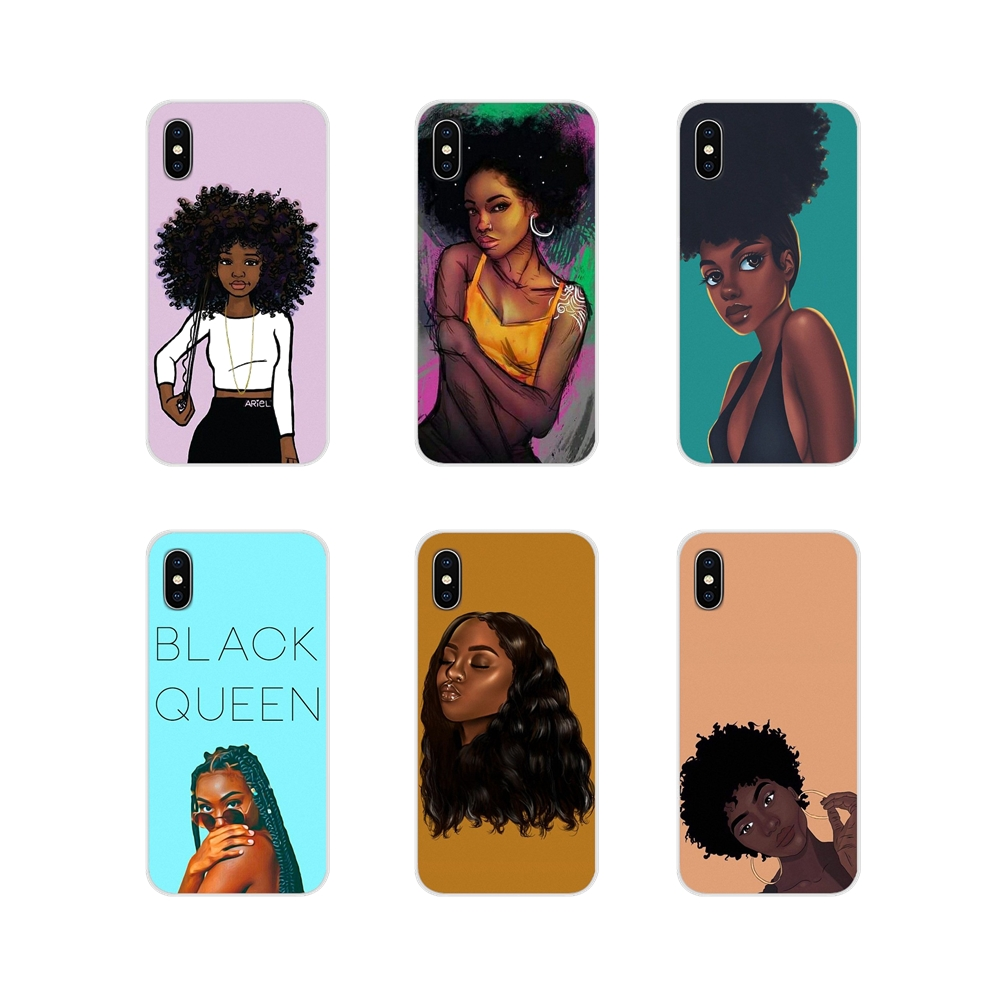 For Xiaomi Redmi Note 6A MI8 Pro S2 A2 Lite Se MIx 1 Max 2 3 For Oneplus 3 6T Soft TPU Case Africa Woman Black Hair Art Painting