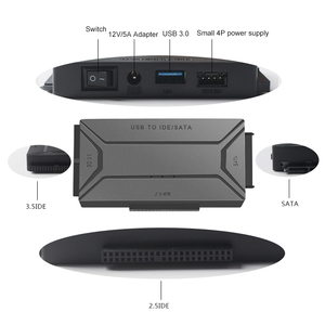 Image 5 - USB 3.0 to SATA IDE External Hard Drive Converter for 2.5 & 3.5 inch HDD SDD IDE Adapter(EU plug)