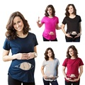 The New Funny Pregnant T-shirts Loose type Pregnancy clothes Round collar T-Shirt Multi-Sized Choice Free Shipping