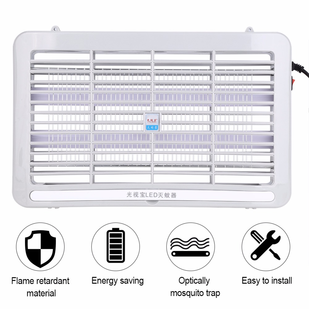 Home & Garden Reasonable Led Electronics Mosquito Killer Trap Moth Fly Wasp Ultraviolet Light Mosquito Insects Killer Bug Fly Zapper Lamp Trap Choice Materials