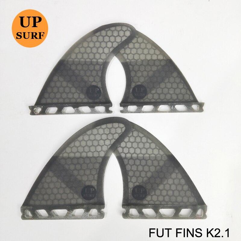 Planche de surf ailerons futurs K2.1 Quad Ailettes Honeycomb Quilhas L'avenir En Fiber De Verre Quille dans Le Surf 4 fin Set