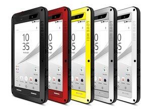 Image 2 - Für Sony Xperia Z5 Premium Liebe Mei Stoßfest Metall Aluminium Fall abdeckung Für Xperia Z5 Kompakte Drei proofing liebe mei telefon