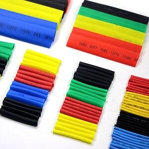 Image 4 - 164 قطعة الحرارة أنبوبة قابلة للانكماش البولي أوليفين غلاف كابل أنبوب عدة مختلط اللون