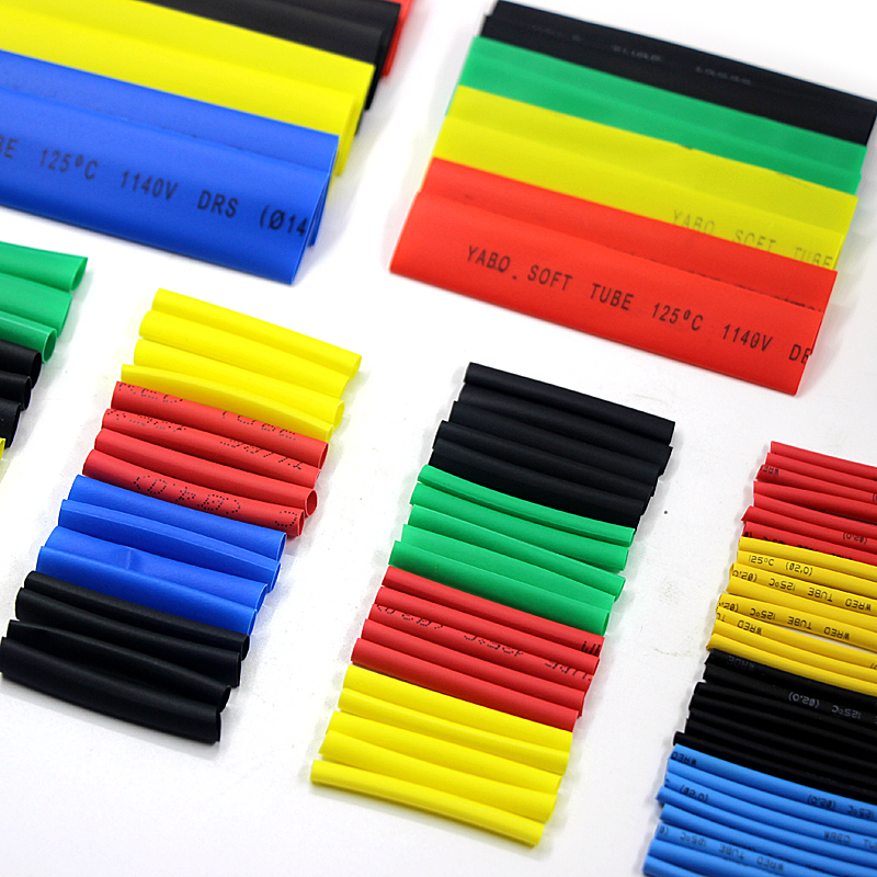 Image 4 - 164PCS Heat Shrinkable Tube Polyolefin Casing Cable Tube Kit Mixed Color-in Insulation Materials & Elements from Electronic Components & Supplies