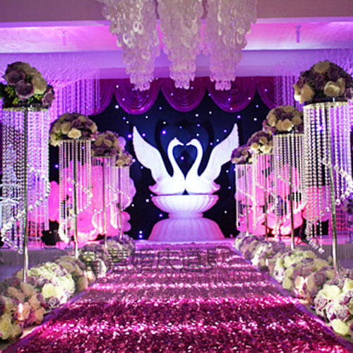 115cm Wedding Stand Luxury Crystal Road Lead Centerpiece Event Party Decoration Backdrop
