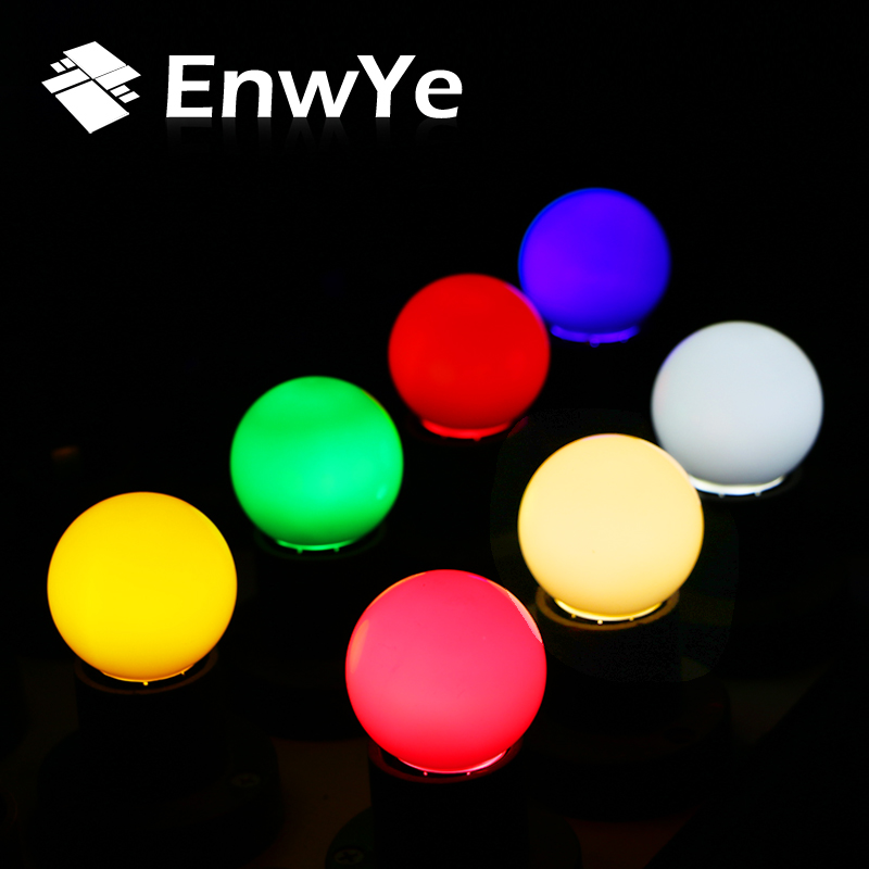 EnwYe 5PCS E27 3W LED Lamp Colorful Bombillas festival Lampada 220V LED Light Lamparas Led Bulbs Colorful bulb LED ...