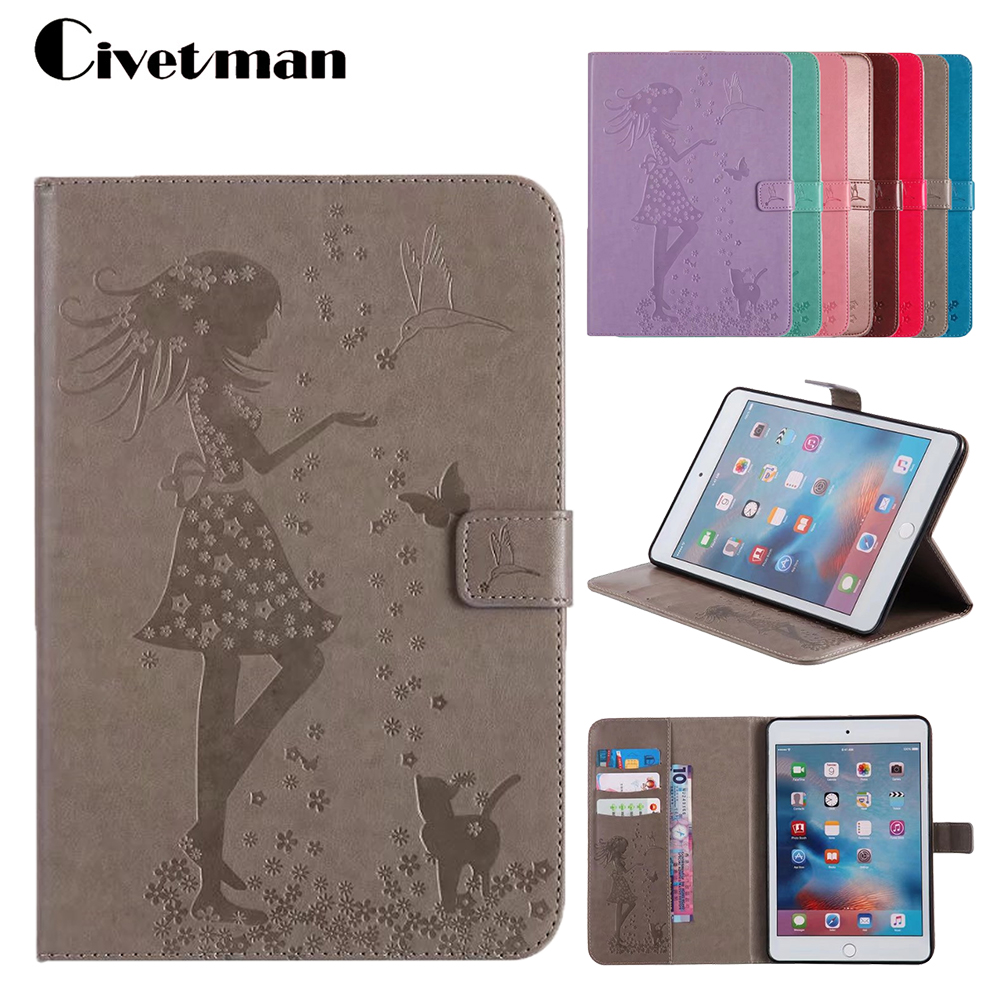 PU Leather Flip Tablet Case For Apple IPad Mini 4 7.9inch Cases Stand Cover Case With Card Holder Cover For Ipad Mini4 Case