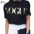 Cuyizan Mulheres VOGUE Impresso Impresso T-Shirt Da Forma Da Marca t shirts mulheres de manga curta Encabeça Tee Femme High street casual tshirt