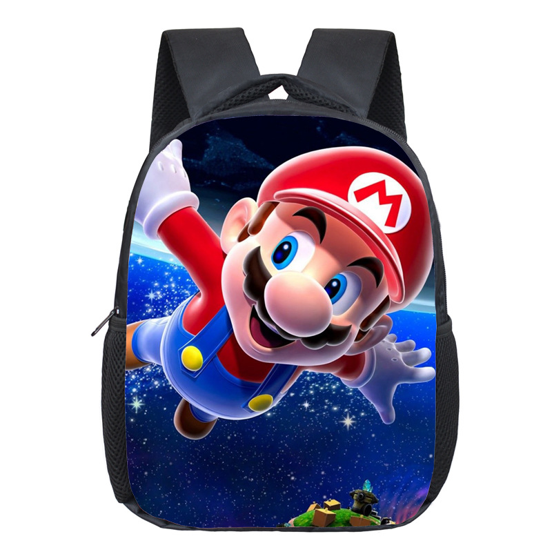 Anime Sonic Boom / Mario Backpack Students School Bags Cartoon Boys Girls Kindergarten Backpacks Children Bag Kids Best Gift Bag 13 inch kids backpack monster high children school bags girls daily backpacks students bag mochila gift