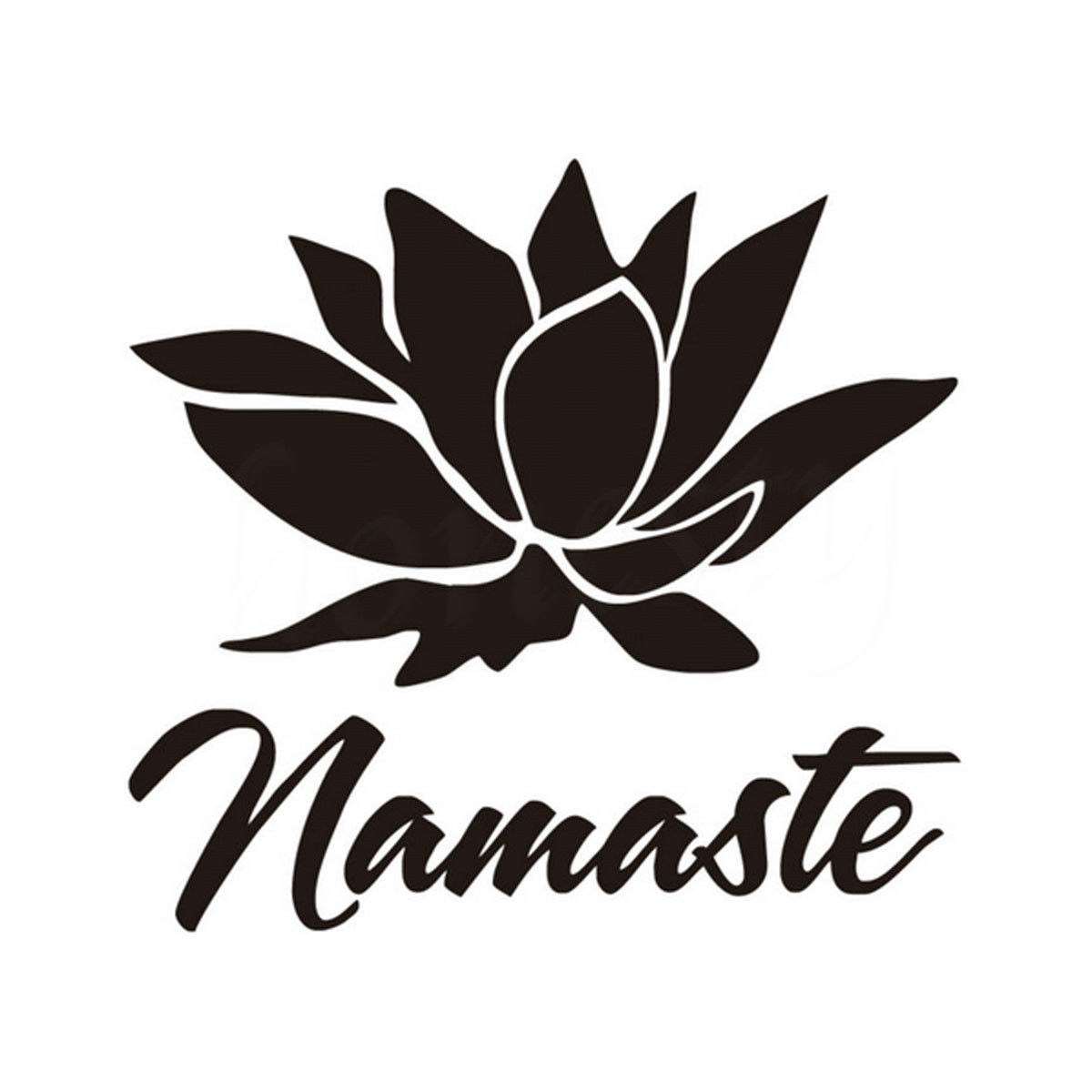Namaste Yoga Lotus Flower For Car Window Truck Laptop Wall Home