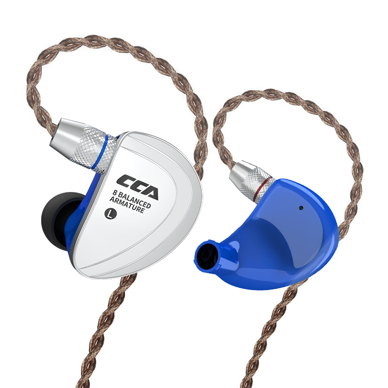 CCA C16 8BA Unità di Azionamento In Trasduttore Auricolare Dell'orecchio 8 Balanced Armature HIFI Cuffia Auricolare Auricolari Con Staccabile Staccare 2PIN Cavo c10