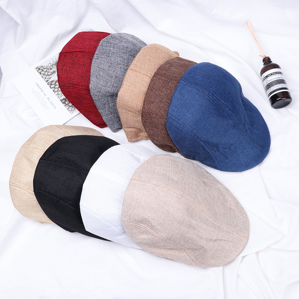 Caps Beret-Hat Flat-Cap Mesh Newsboy-Style Adjustable Fashion Women Casual 1pc