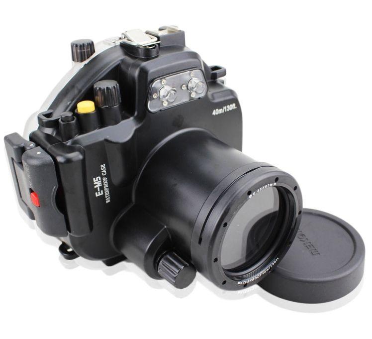 Meikon 40M Waterproof Underwater Camera Housing Case for Olympus OMD EM5 12-50mm mcoplus 40m 130ft camera underwater housing waterproof shell case for nikon j5 10mm lens