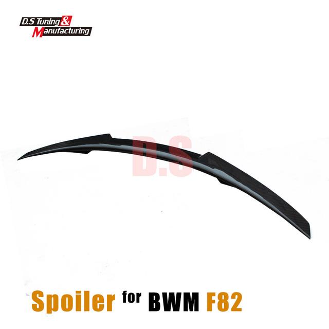F82 M4 estilo fibra de carbono tronco traseiro asa spoiler para bmw 4 série 2014 2015 2016 M4 f82 coupe 2-porta carro tuning
