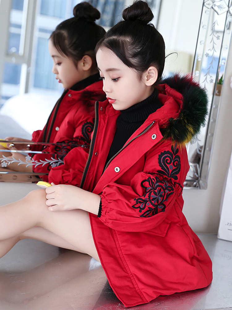 Autumn Warm Girls Jackets Thick Girls Outerwear Coats Solid Jacket For Kids Winter Teenage Costumes For Girls Winterjas Meisjes baby girls jackets 2018 winter jacket for girls winter coat kids clothes children warm hooded outerwear coats winterjas meisjes