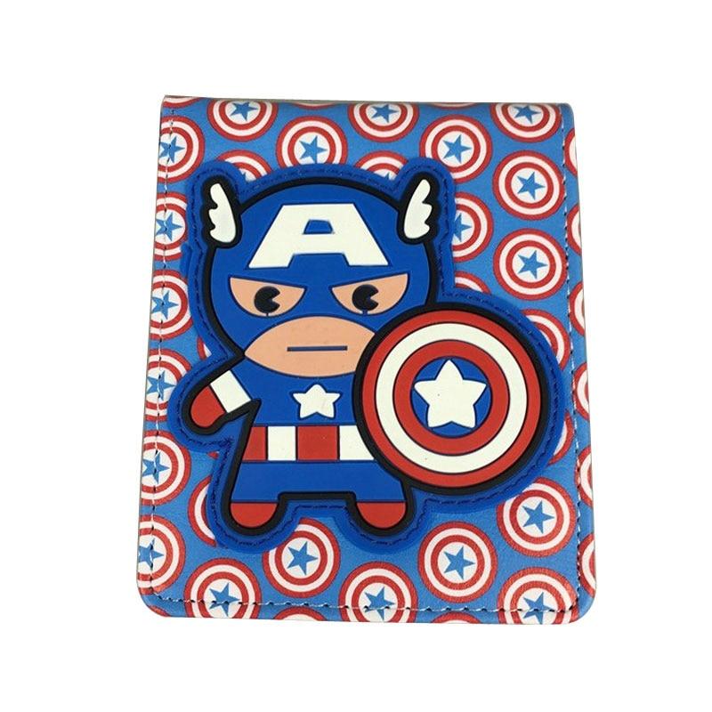 Comics Marvel Purse Lovely Cartoon Anime Wallets carteira Hero Captain America Spiderman Deadpool Card Money Bags Short Wallet new cartoon wallet fallout print purse pu leather card money bags carteira dollar price men women lovely short wallets