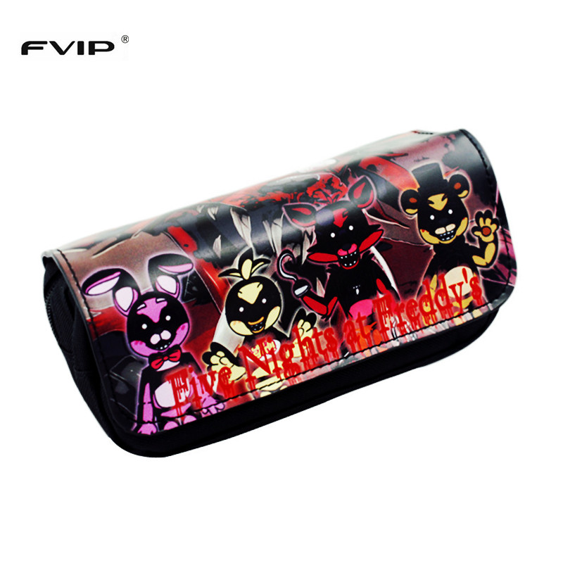 FVIP Pencil Pen Case Bag Five Nights At Freddy's/ Assassin's Yuri On Ice/ Undertale Cosmetic Makeup Bag Long Purse cartoon cosmetics bag pokemon go gravity purse bag received wallet makeup pencil pen case bag zelda pokemon ball purse bag wt004