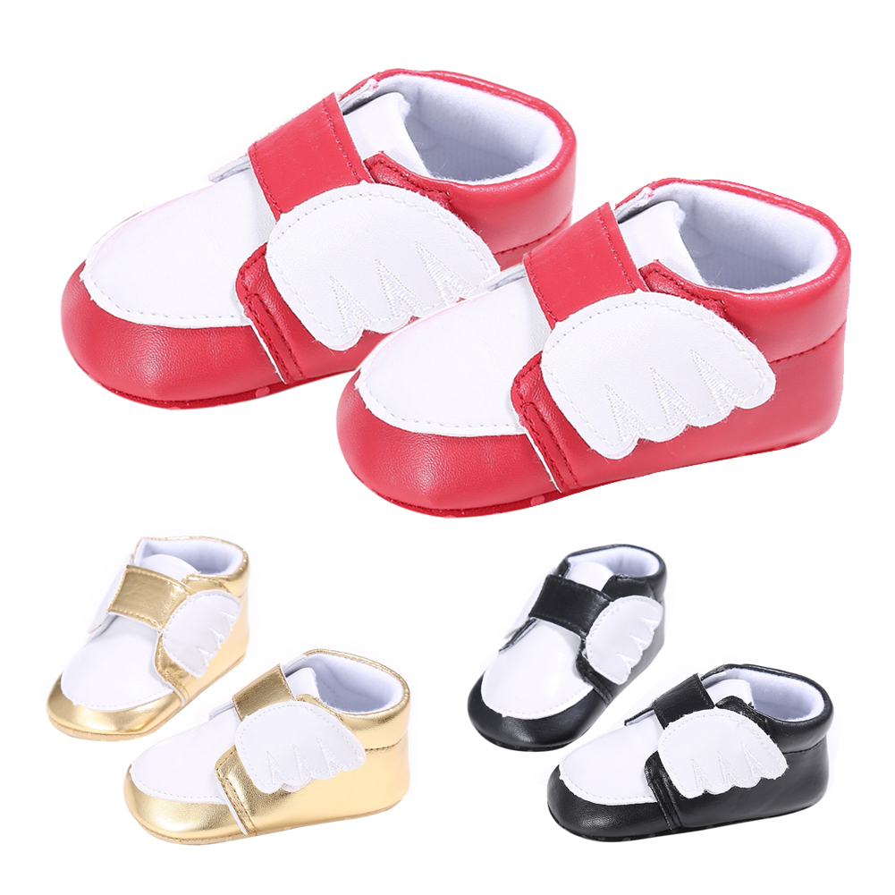 New Baby Moccasins Infant Anti-slip PU Leather First Walker Soft Soled Newborn Sneakers Baby Shoes Little Wing Moccs Shoes