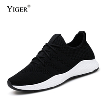 YIGER New Men sports mesh sneakers male big size running shoes light breathable mens Casual leisure  0325