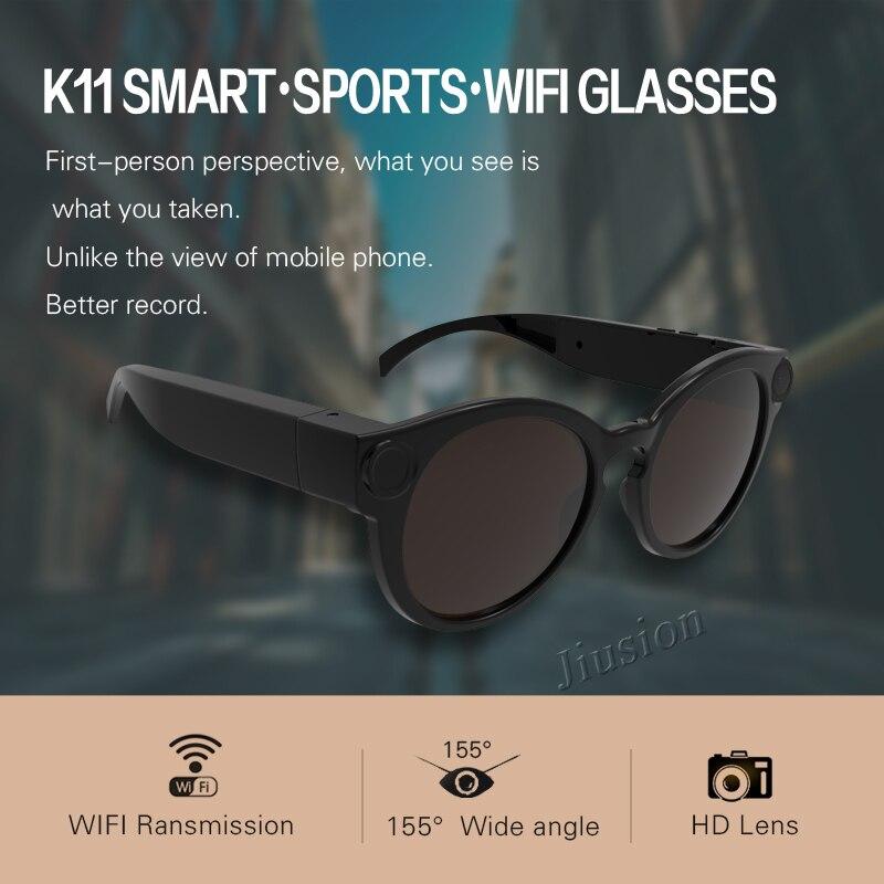 Smart Glasses WiFi Camera Full HD 1080P Sports Sunglasses Cam Micro Video  Recorder Camcorder