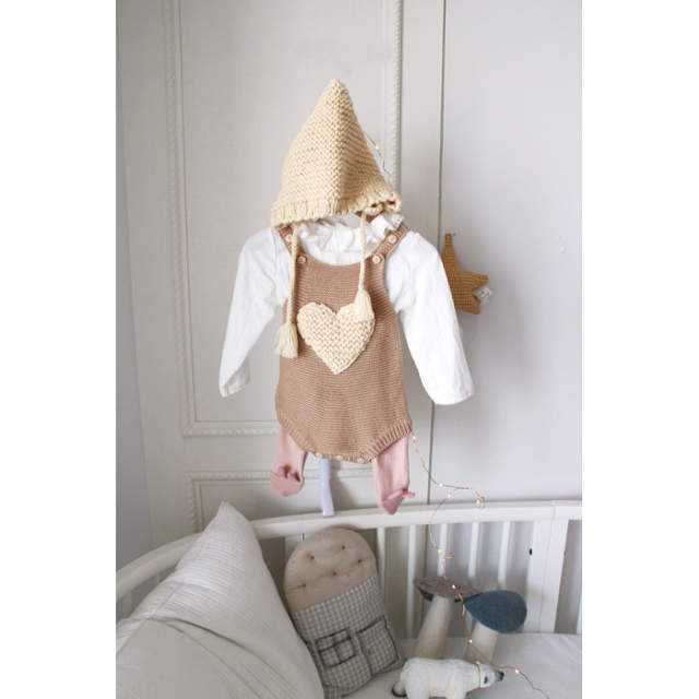 bd249d62585a Online Shop 2017 new baby girls handmade wool knitting star love ...