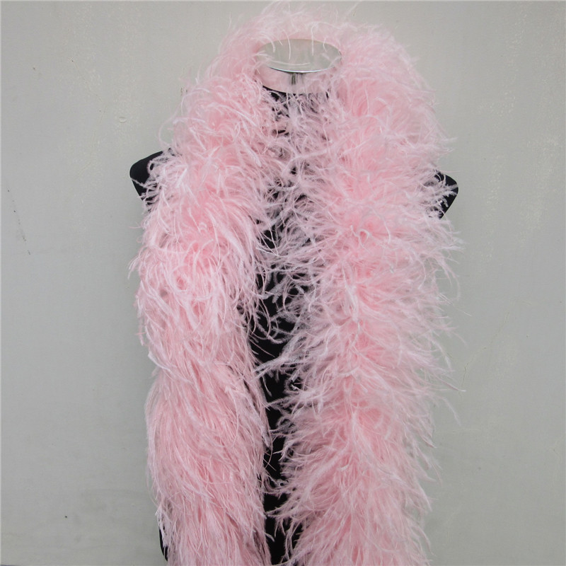 YOYUE 2 Meters 6 Layer Pink Natural Ostrich Feathers Boa Quality Fluffy Costumes / Trim For Party / Costume / Shawl / Available-in Feather from Home & Garden    1