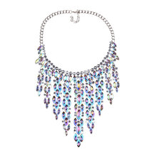 New Colorful Necklace Fashion Alloy Crystal Clavicle Chain Rhinestone Vintage Boutique