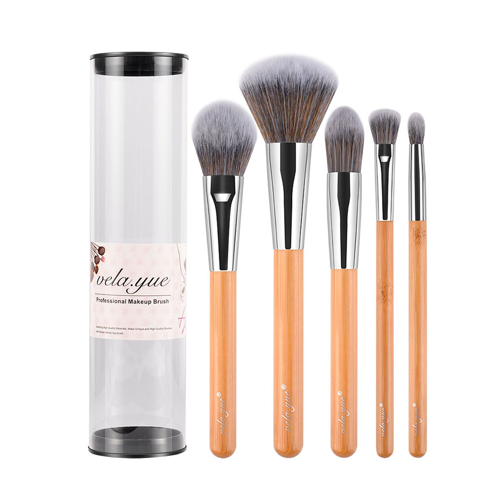 Velayue 5 to 18 Pcs Makeup Brush Set including Flat Top Brush and Fluffy Brush for Full Face and Eye Makeup 12