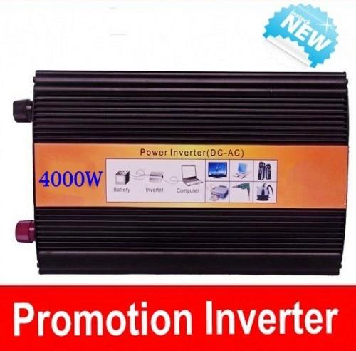 цена на Doubel Digital Display 8000W Watts Peak Real 4000W 4000 Watts Power Inverter pure sine wave inverter 24V DC to 220V