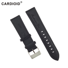 22mm Canvas & Cow Leather Watchbands Genuine Watch Strap Stainless Steel Clasp Accessories For Breitling Navitimer