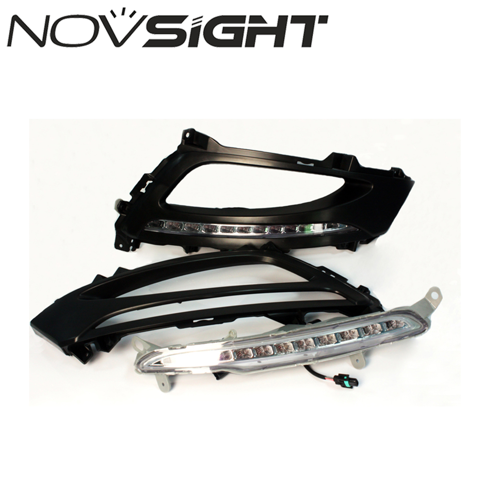 NOVSIGHT Car LED Daytime Running Lights DRL Fog Lamps Cover for Kia Optima K5 2011 2012 2013 D20