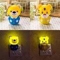 New novelty household iluminação noturna lâmpada new criativo colorido projeto animal bonito urso/emocional do tigre bebê lâmpada candeeiro