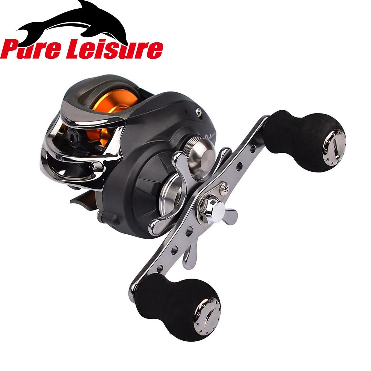 PureLeisure Ice Fishing Reels 10 Axis Drop Wheel 6.3:1 River Lake Fishing Reel Fish Gear 9+1BB Lure Fishing Reel Left /Right