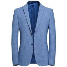 Модный элегантный пиджак мужской деловой Повседневный приталенный