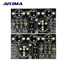 AIYIMA 2Pcs Hood 1969 Class A Audio Amplifier PCB Board Perfect 6 Tube Mute Version Bare PCB