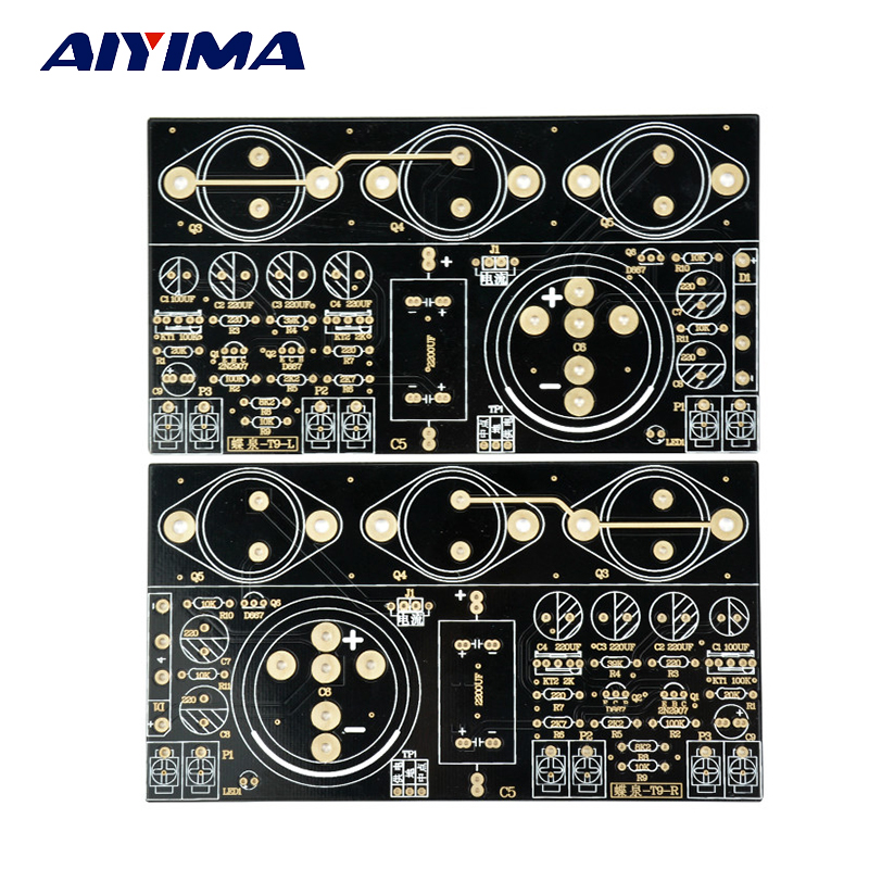 Aiyima 2PCS Hood 1969 Class A amplifier Board Perfect 6 Tube Mute Version Bare PCB