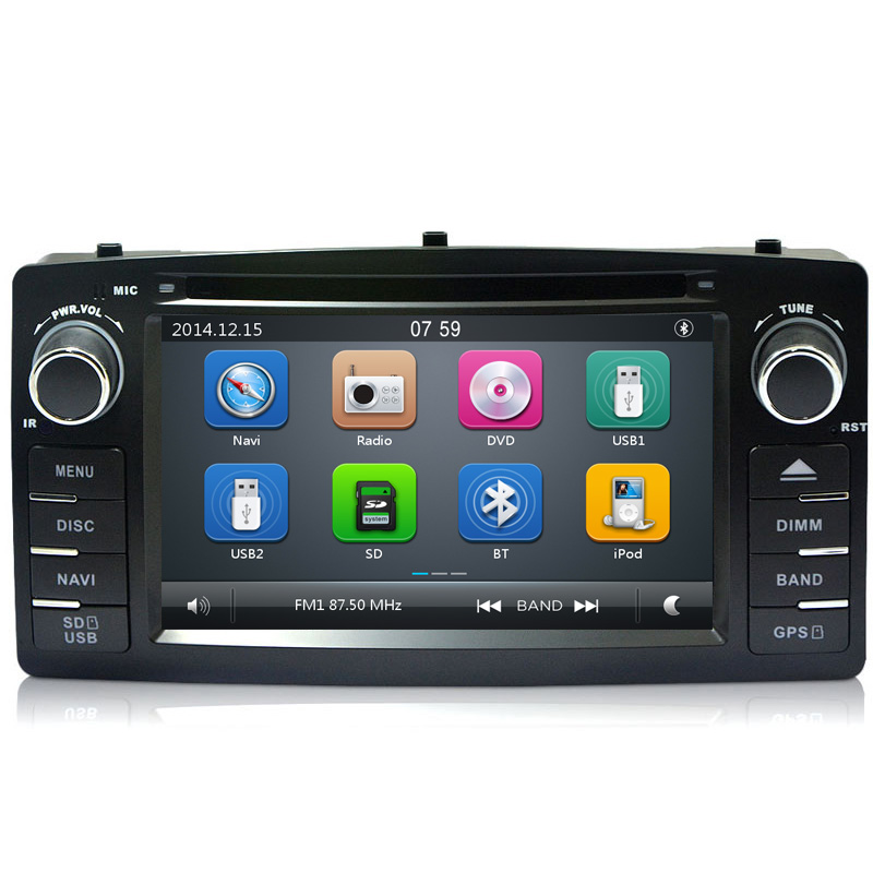 2 Din Carr DVD GPS Radio for Toyota Corolla E120 BYD F3 DVD player navigation radio stereo multimedia capacitive touch screen