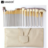 Vander Pro 24pcs Makeup Brushes Set Powder Foundation Eyeshadow Make Up Brushes Cosmetics Soft Synthetic Hair