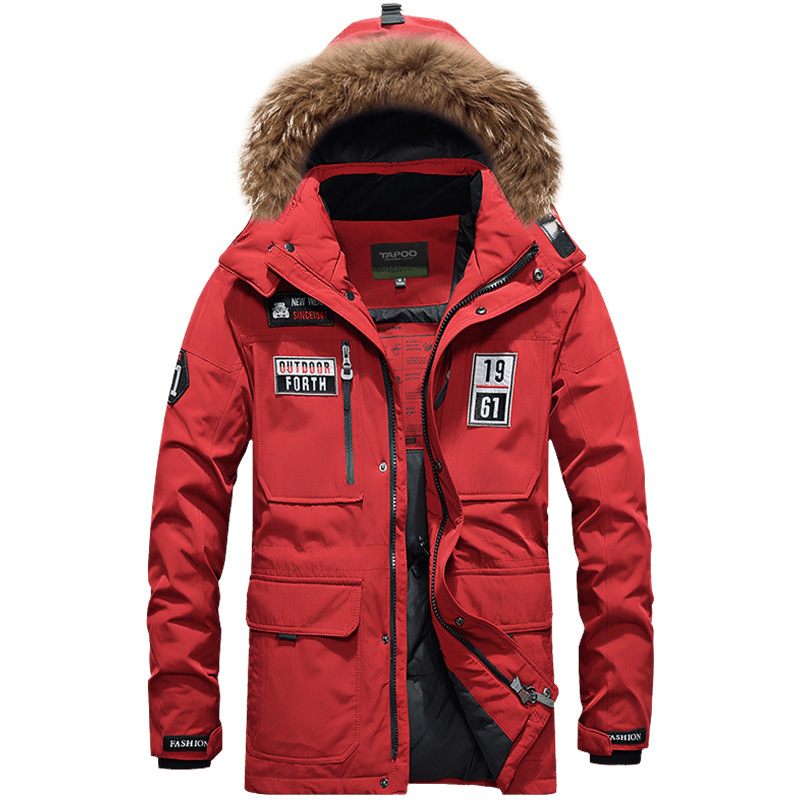 2018 Hot New Brand Down Parka White Duck Down Jacket Casacos de Inverno Outdoor Warm Fur collar Coat Sports Ski Jacket цена