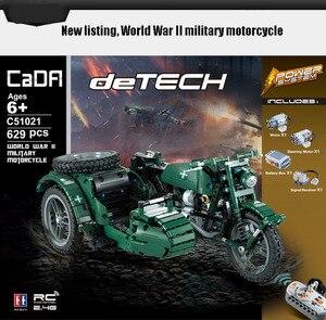 Image 5 - CaDA di Controllo Remoto Del Motociclo Arma Militare Seires Blocchi di Costruzione di Modello Technic Giocattoli Per Bambini del Regalo Dei Bambini con la Scatola originale