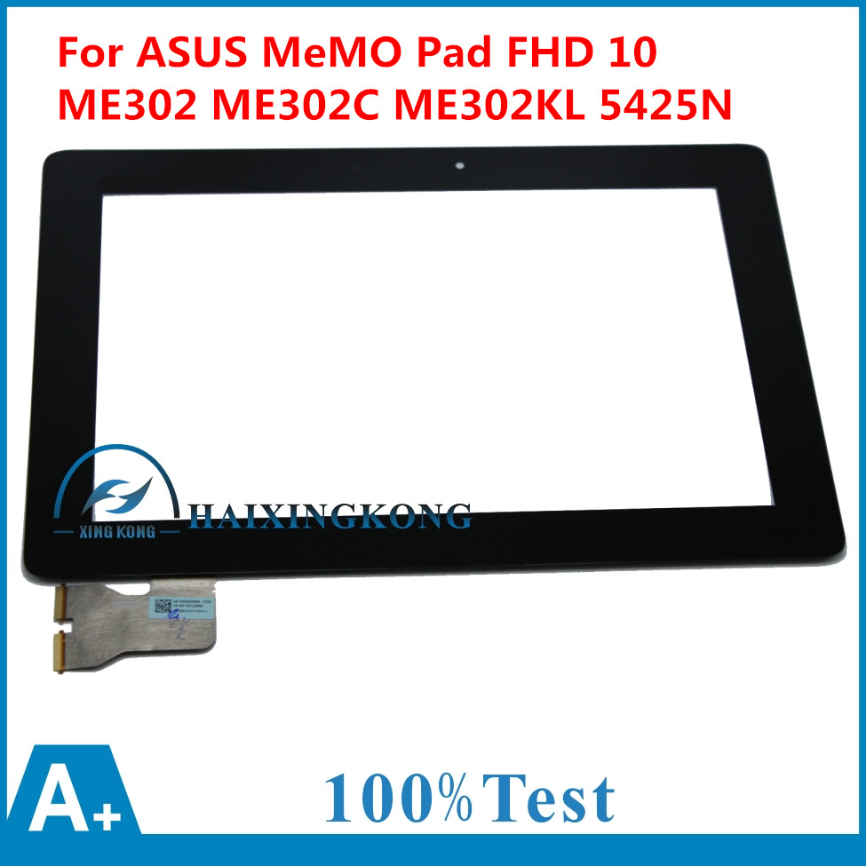 100% Test Touch Screen Digitizer Glass For ASUS MeMO Pad FHD 10 ME302 ME302C K005 ME302KL K00A 5425N FPC-1 Free Shipping free shipping claa101fp05 xg fit b101uan01 7 lcd led screen display for asus memo pad me302 me302c me302kl only screen no touch