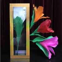 Japanese Magic Flower From Crystal Tube Magic Tricks Stage Magic Close Up Card Mentalism Magic Fun