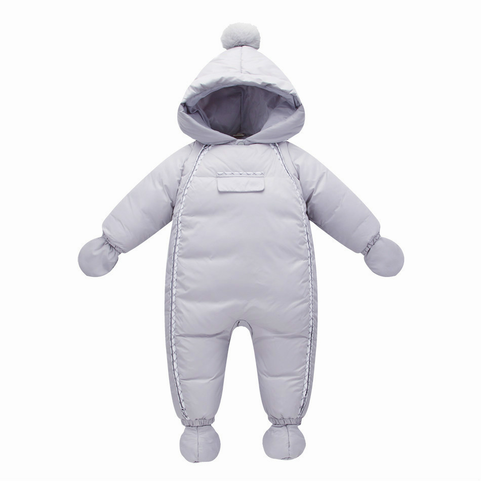 Warm winter ! 2017 new infant boys , girls snowsuit white duck down Winter baby jumpsuits,snowsuit infant,baby winter clothes,