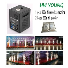 HWyoung 1 pcs 400w 2 bags 200g cold spark firework machine Machine For Wedding Party Effect Cold Fireworks DJ Disco