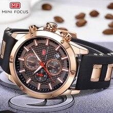 MINI FOCUS Lujo Marca Hombres Analógico Digital de Silicona Deportes Relojes hombres Militar Del Ejército Reloj de Cuarzo Hombre Reloj Relogio masculino