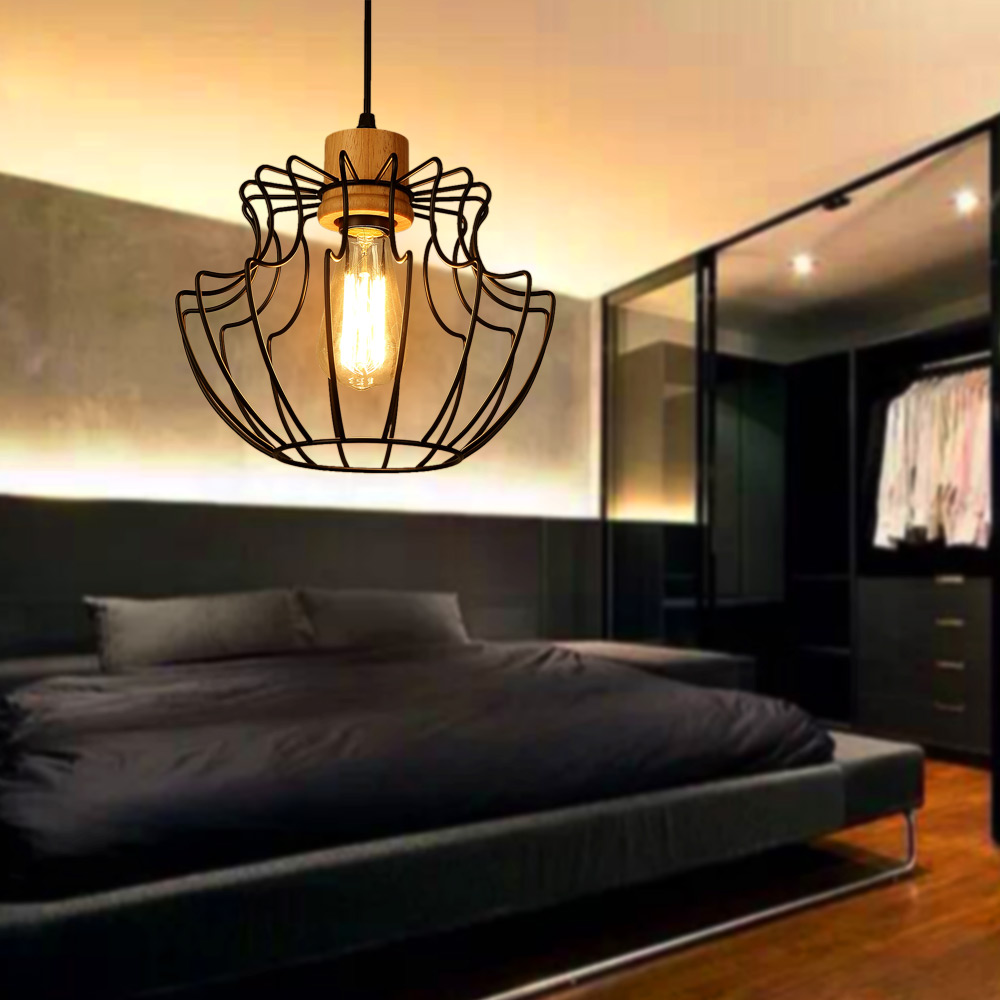 NEW Loft Iron Pendant Light Vintage Lamp Restaurant Bedroom Living Room E27 Birdcage Nordic Country Style Iron Hanging Light lamps new crystal pendant lights nordic european style living room restaurant bedroom modern minimalist american country iron