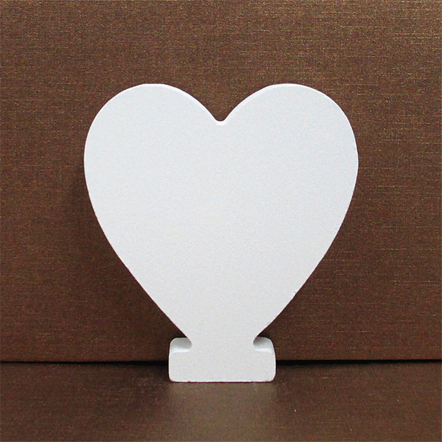 1pc 10CMX10CM White Wooden Letter English Alphabet DIY Personalised Name Design Art Craft Free Standing Heart Wedding Home Decor 6